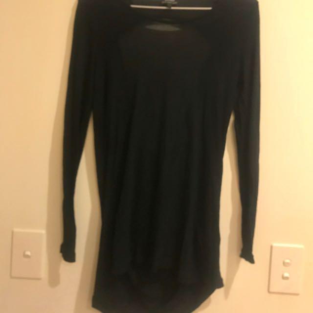 BARDOT Black Top Size 8