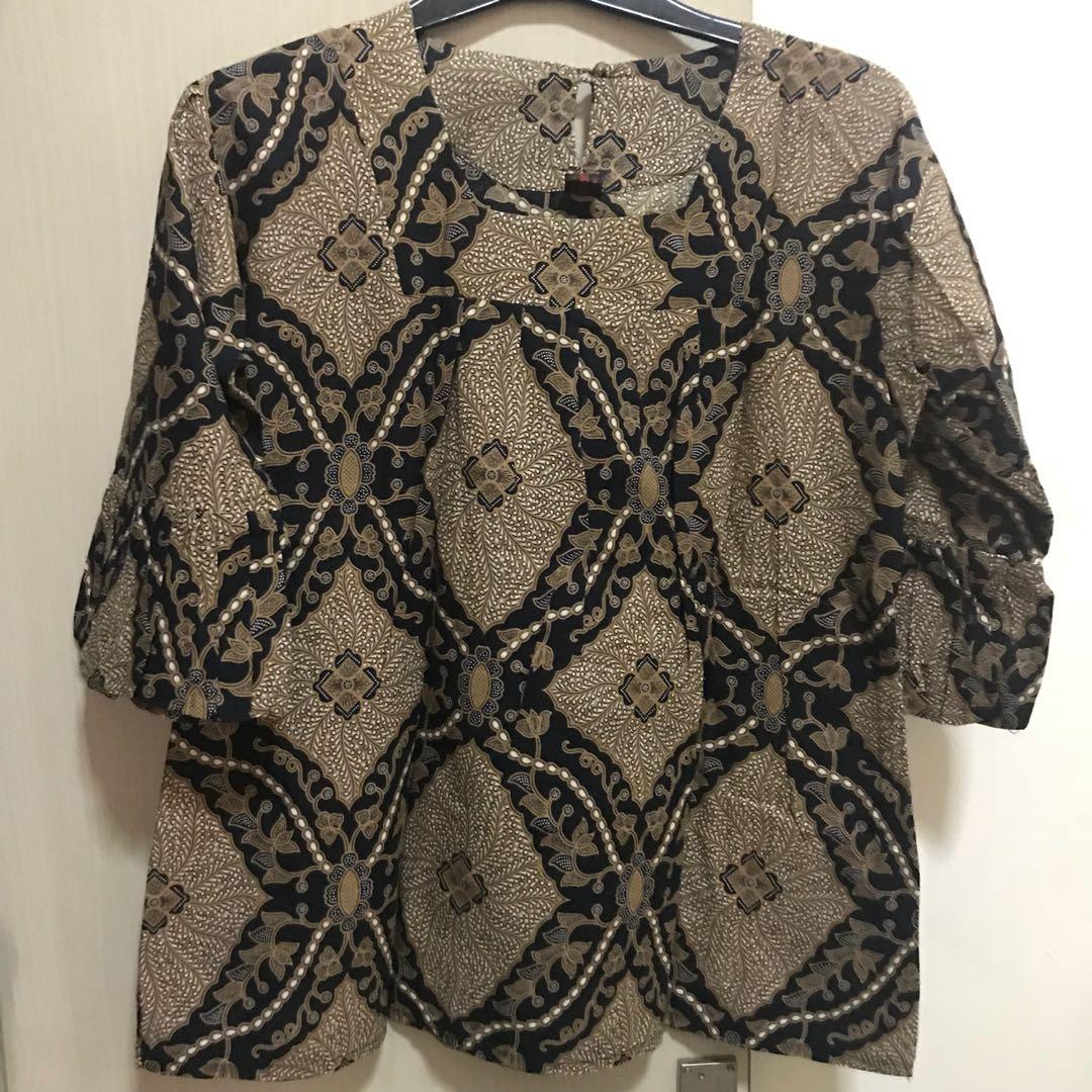 batik ruffle halus coklat