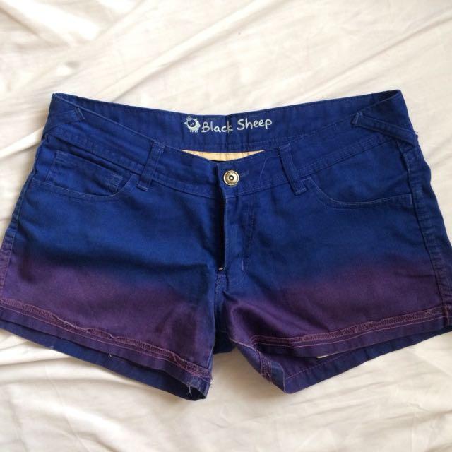 Black sheep ombré shorts