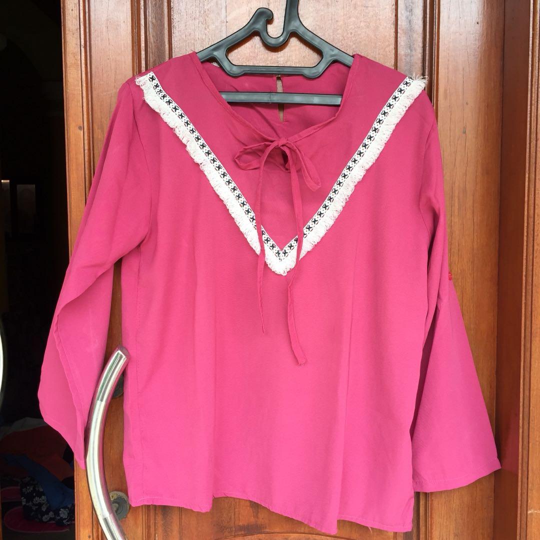 Bohemian pink blouse