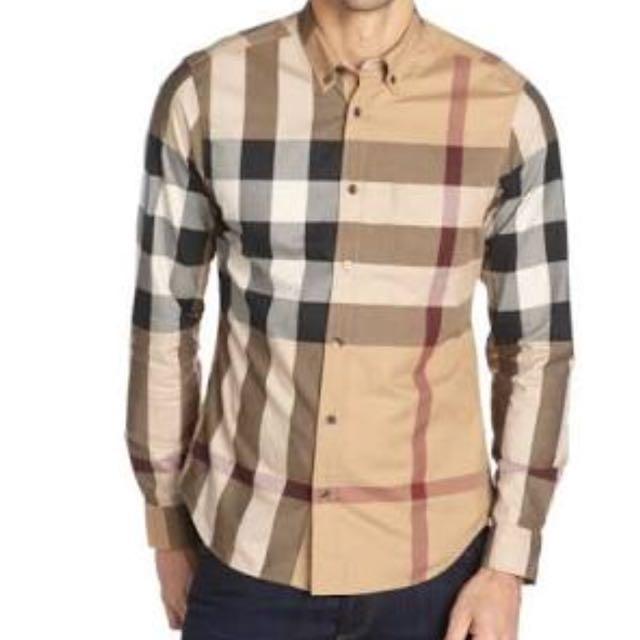 Burberry Check Shirt Size M