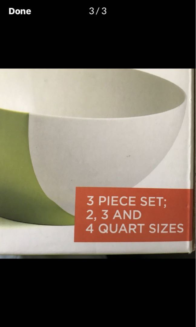 """Chef'n brand """"pinch 'n pour"""" mixing bowls"""