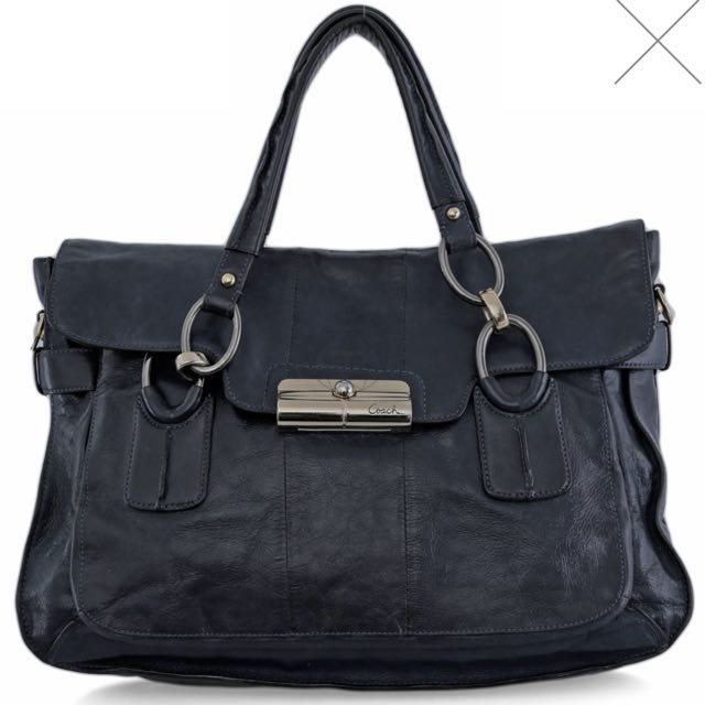 COACH Shoulder Bag Navy Blue