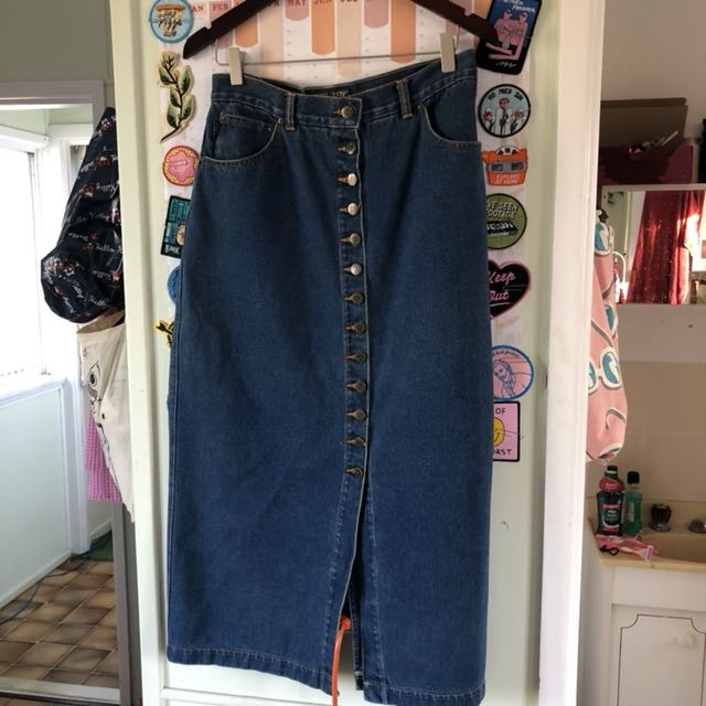 Corfu Jeans vintage long denim skirt