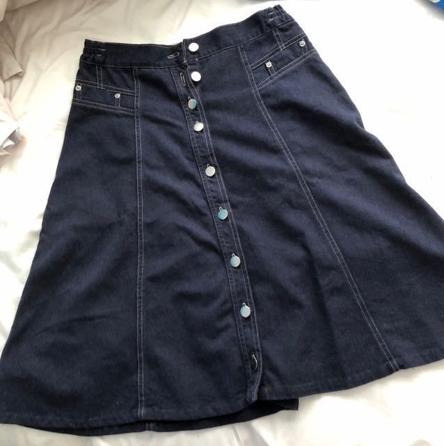 David Jones midi denim skirt