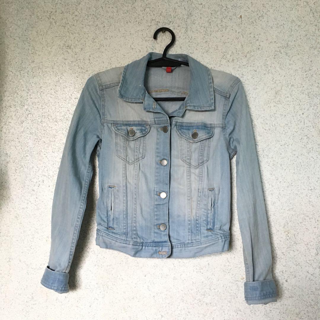 Divided by h&m light washed denim jacket