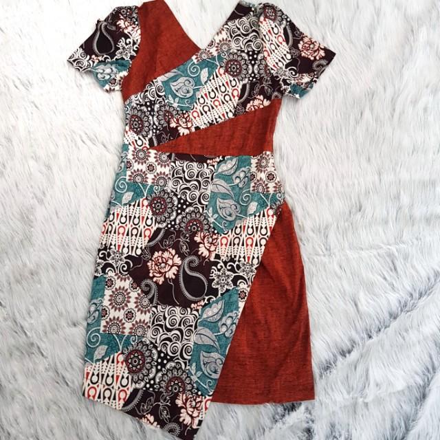 Dress Batik Asimetris