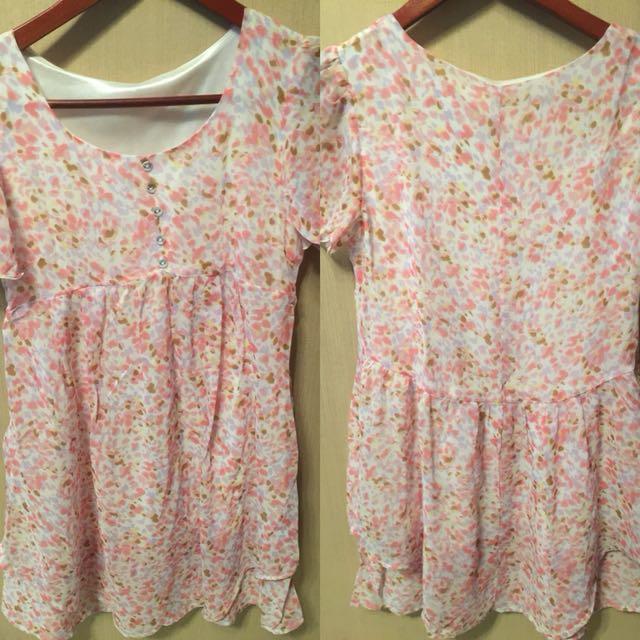 Dress floral pink