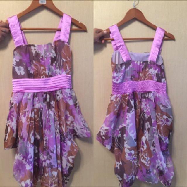 Dress ungu floral