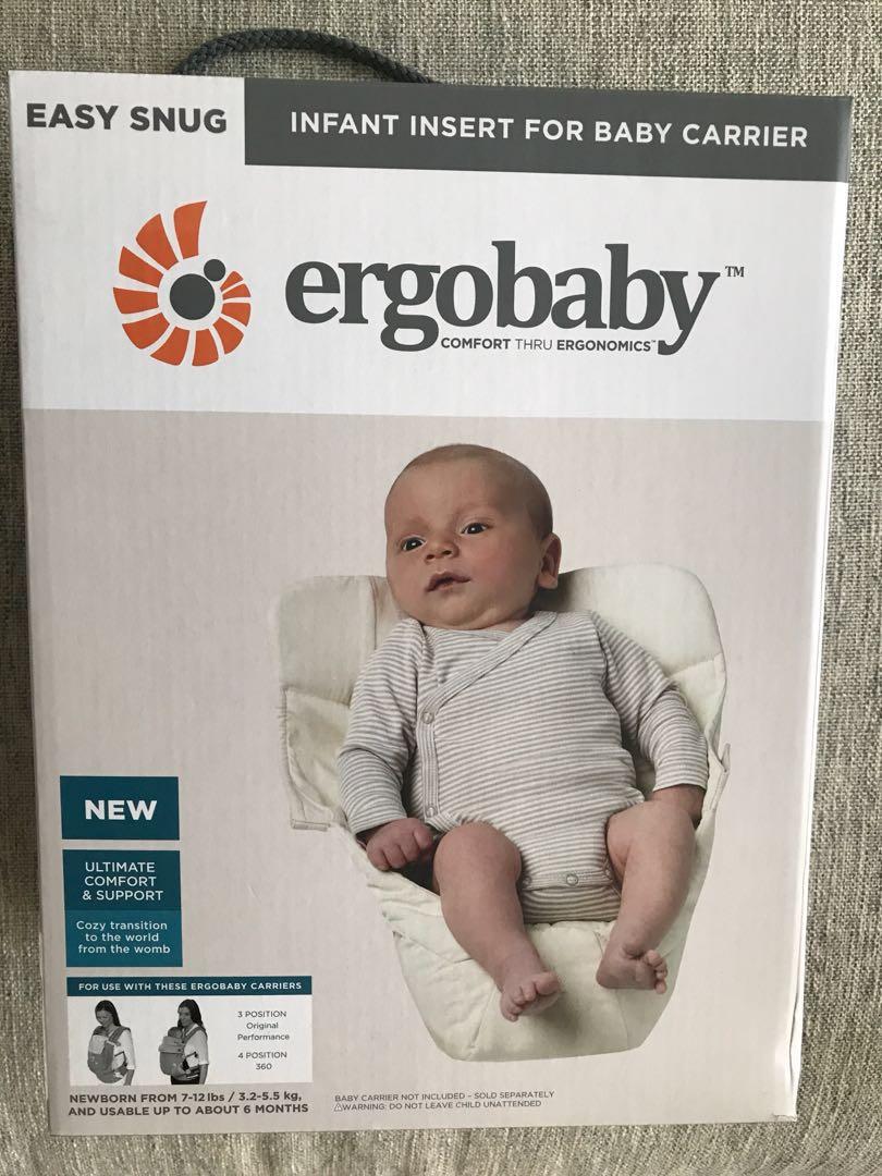 5270d72ed07 Ergobaby Easy Snug Infant Insert For Baby Carrier (Natural Colour ...