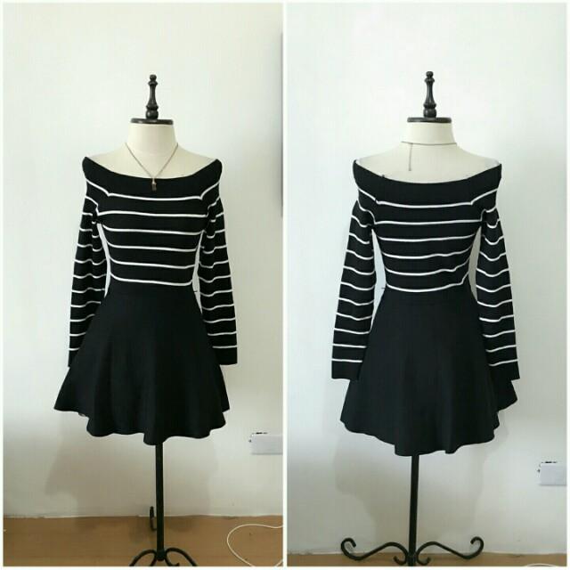 Fine Knit Off Shoulder Dress