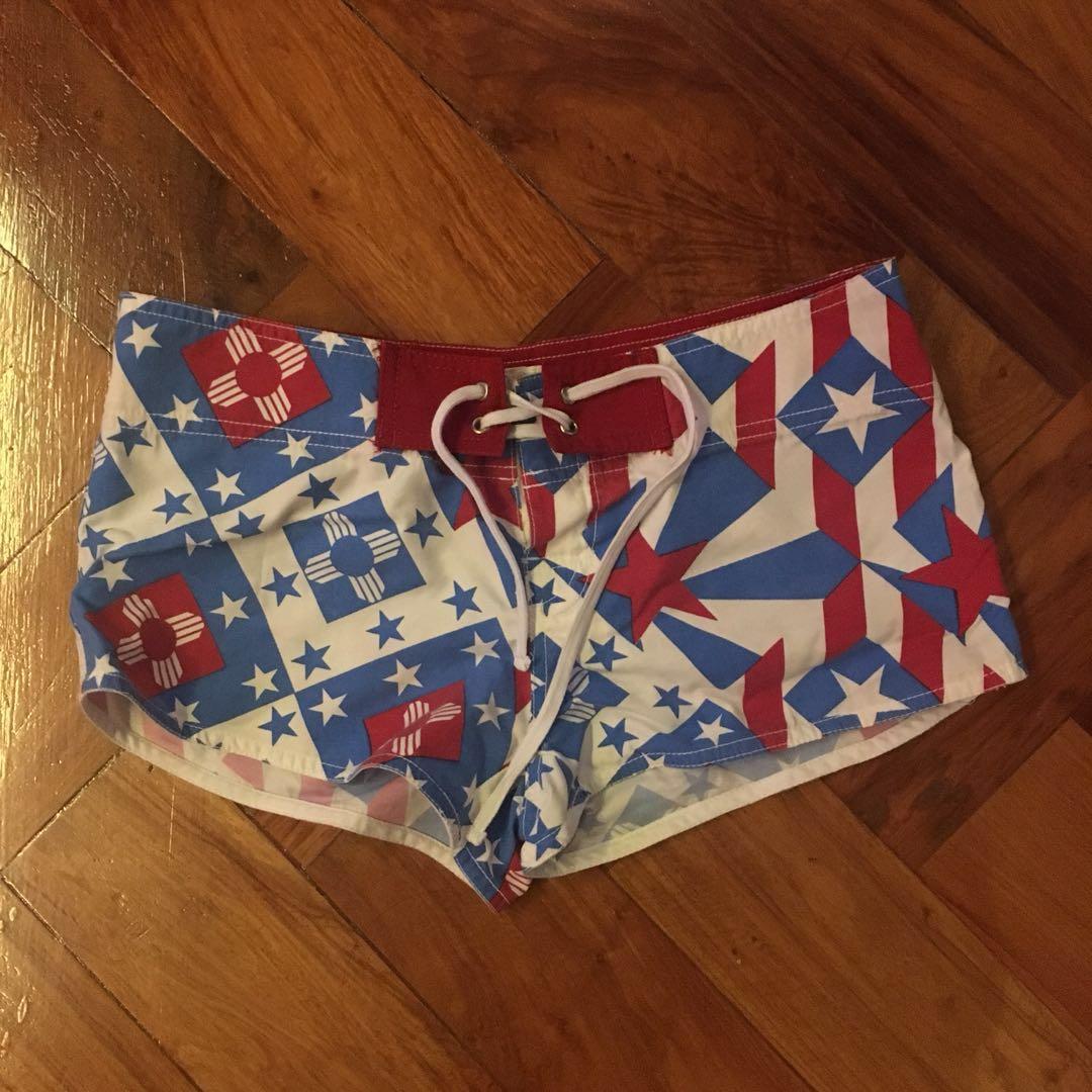 Folded and Hung Board Short Board Shorts