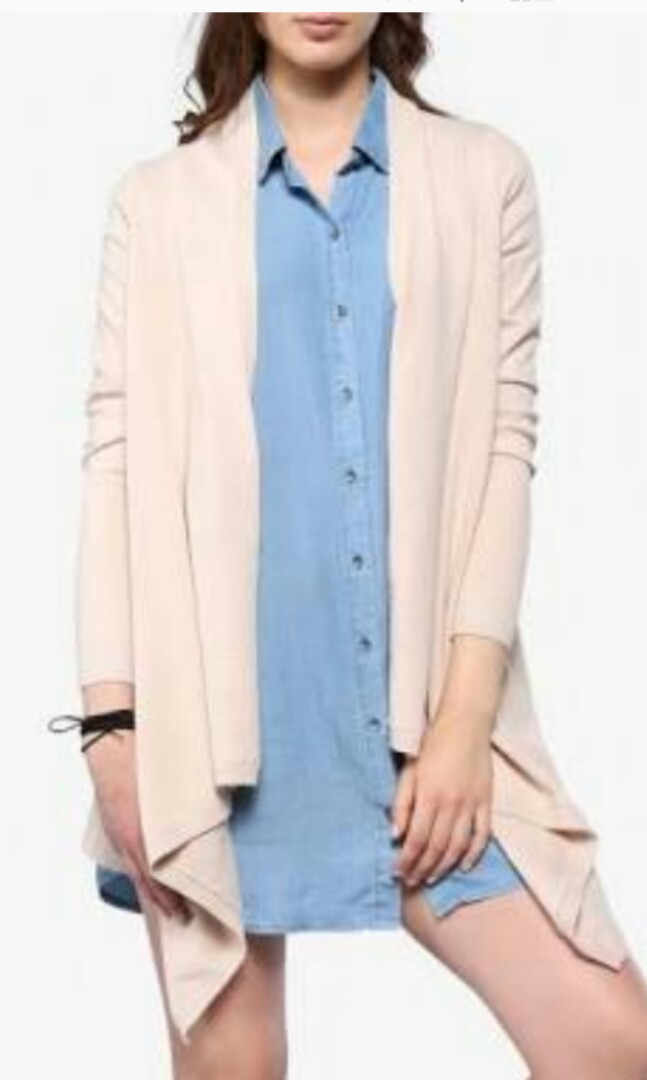Forever New Rose gold waterfall cardigan