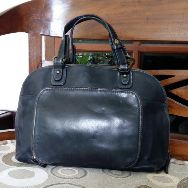Giani Bernini Black Leather Handbag Authentic