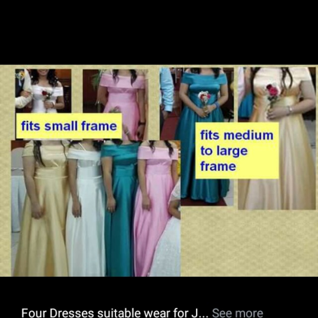 Gowns for Bridesmaids