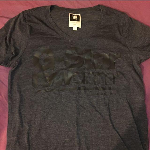 GSTAR raw logo tshirt