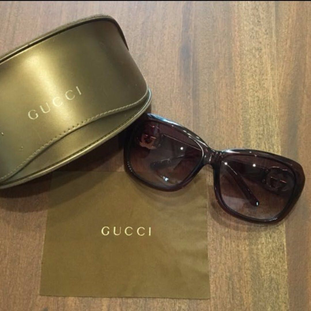 c75dfeeb8e0 Gucci Double G Oversized Sunglasses Authentic