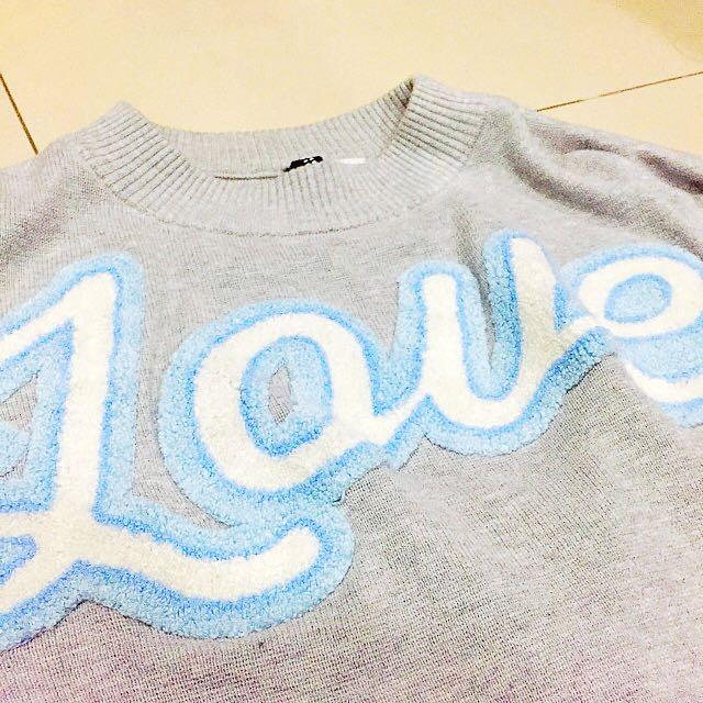 H&M 短版 毛衣