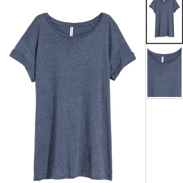 a94fa26f4b94 H&M Dark Blue/Grey Tshirt Dress, Women's Fashion, Clothes, Dresses ...