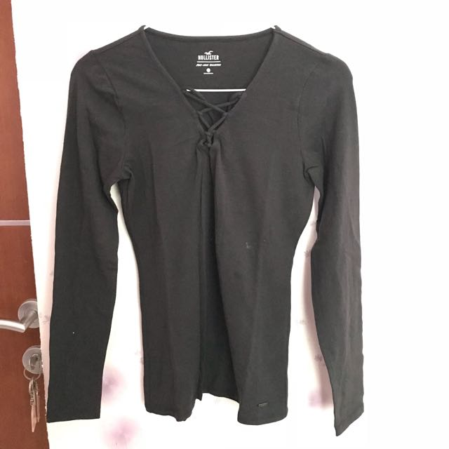 Hollister Black Army Top