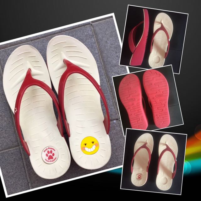 Hush Puppies Wedges Sandal (red-white)
