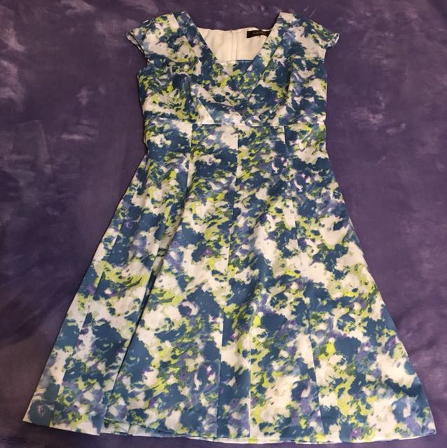 JUSGLITTY藍色修身洋裝