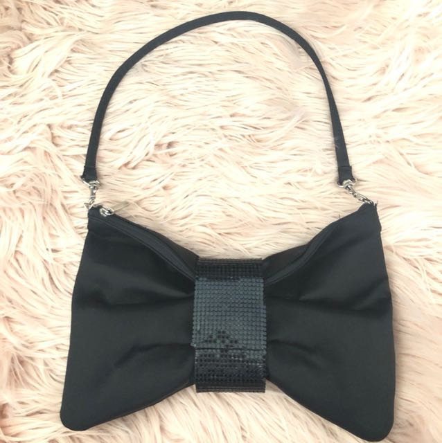 Kate hill bow-tie clutch/bag