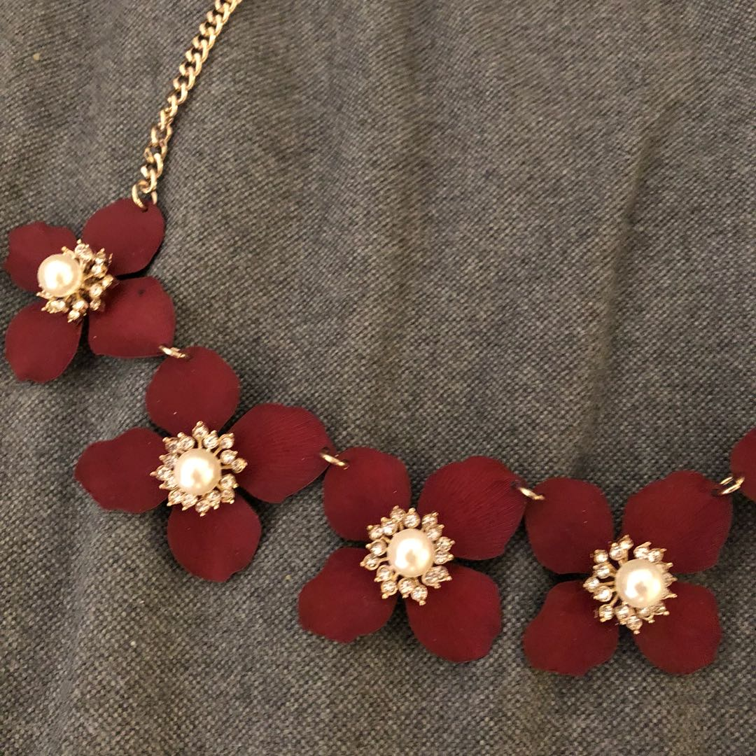 maroon akola project products necklace collar