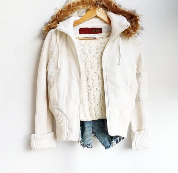 M21 White Fur Winter Jacket  (Winter/Spring)