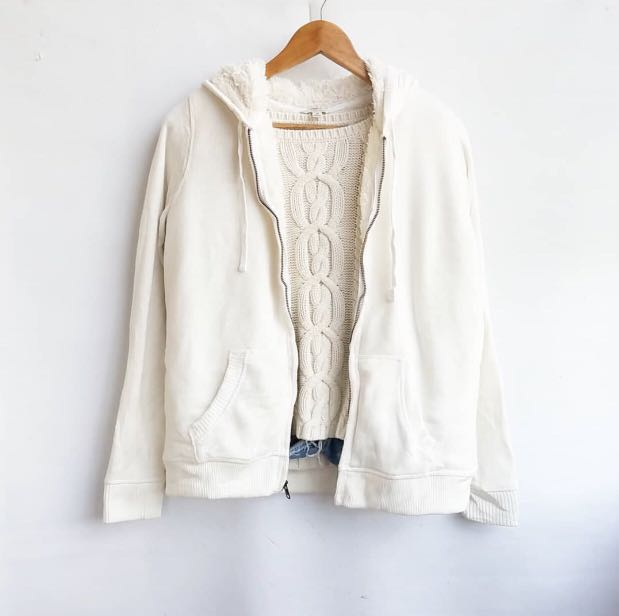 M38 White Winter Jacket with Inner soft  Fleece lining