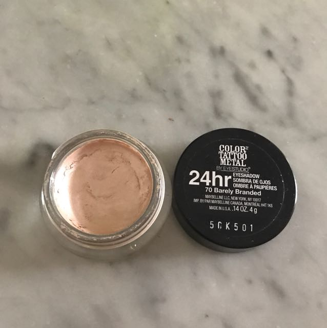 Maybelline color tattoo metal / cream eyeshadow / barely branded