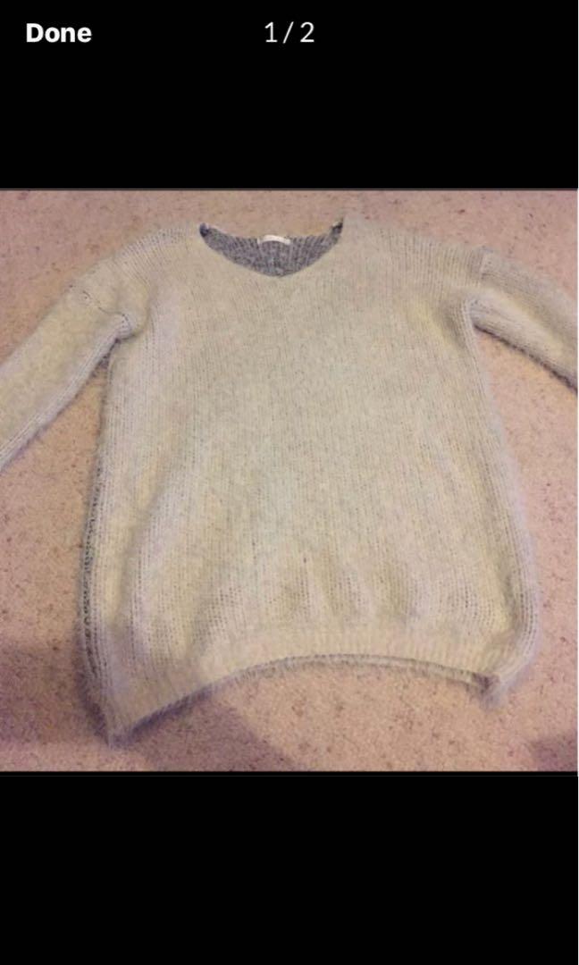 Mika & Gala 3/4 sleeve fluffy jumper