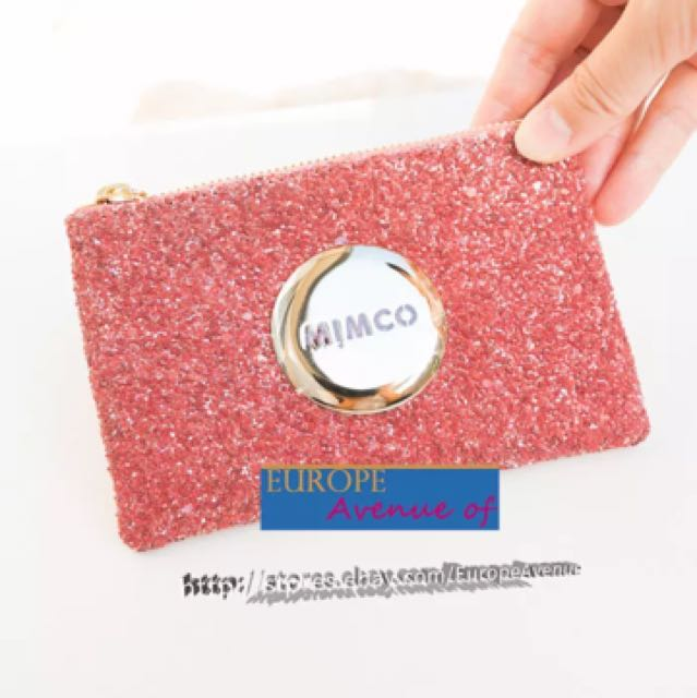MIMCO small pink glitter wallet