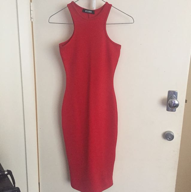 Missguided ribbed bodycon dress size 4
