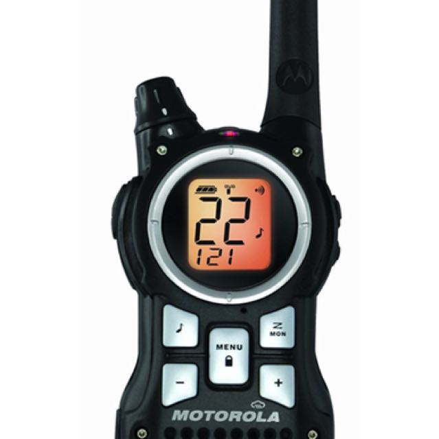 Pair Motorola MR350R 35-Mile Range 22-Channel FRS//GMRS Two-Way Radio