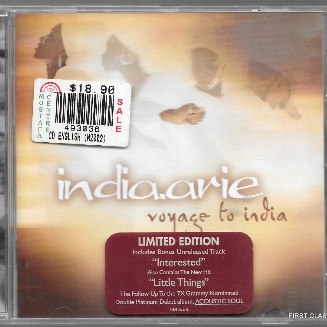 F7C)MY PRELOVED CD -INDIA ARIE - VOYAGE TO INDIA /FREE DELIVERY (F60 ...