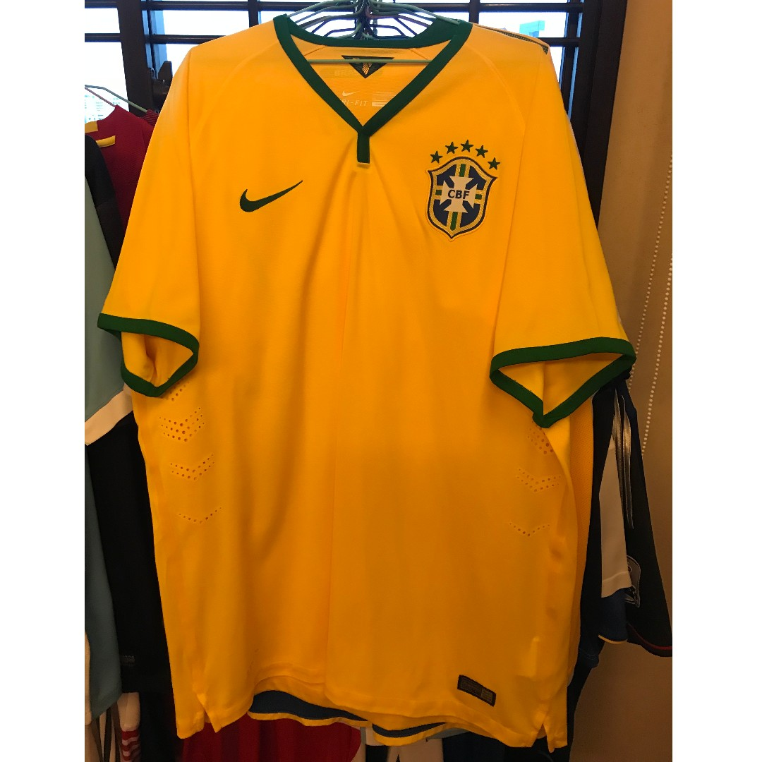 f7346a29a NEW Nike Authentic Brazil National Team Dri Jersey Football 2014 ...