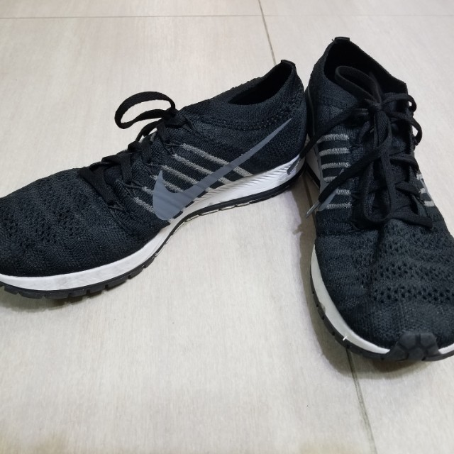 8d9ea749d8aa2 NIKE MEN AIR ZOOM FLYKNIT STREAK 6 RACING (BLACK   DARK GREY-WHITE ...