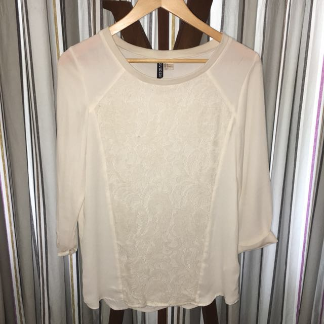 Off-White Lace Blouse
