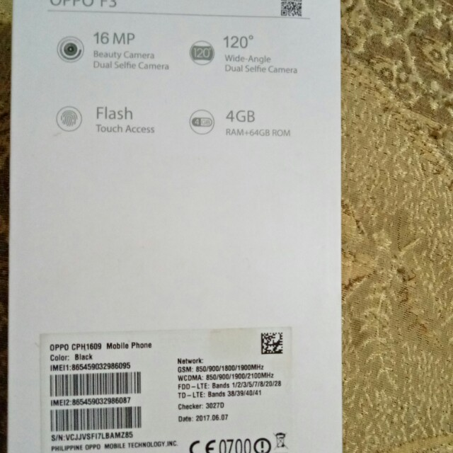 OPPO F3 BLACK MATTE, Mobile Phones & Tablets, Android Phones