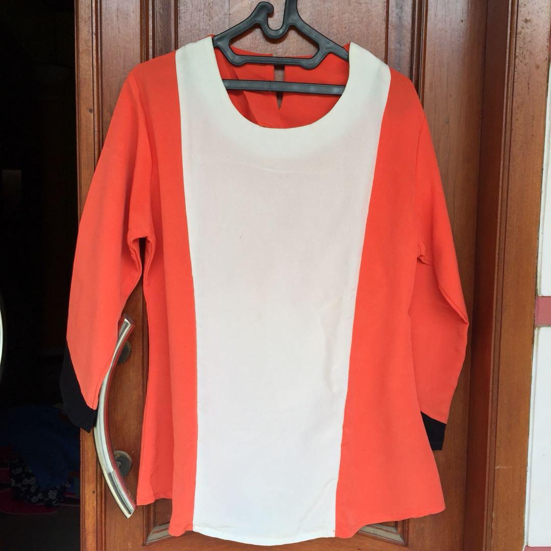 Orange 3tones blouse