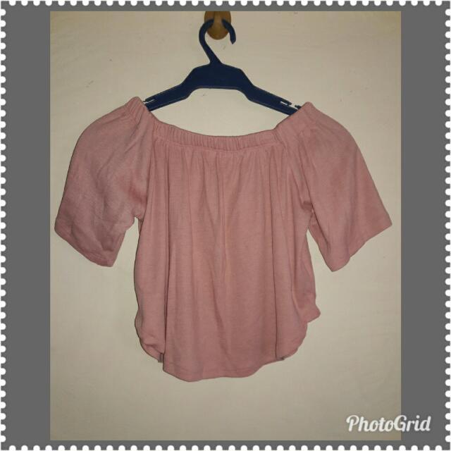 Pastel Pink Off Shoulder