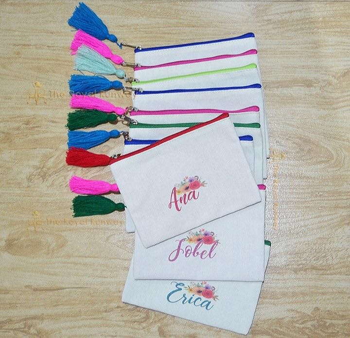 PERSONALIZED CANVAS POUCHES