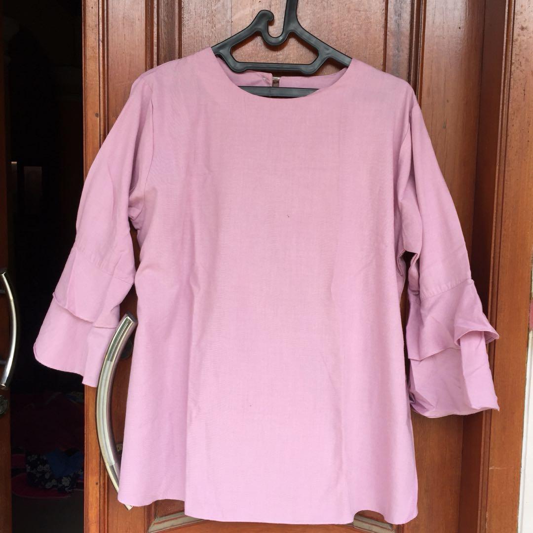 Pink terompet blouse