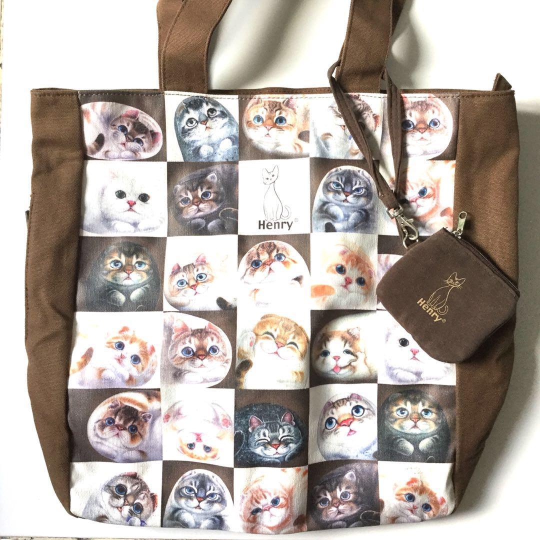 PLOVED: Henry Cat Canvas Shoulder Bag