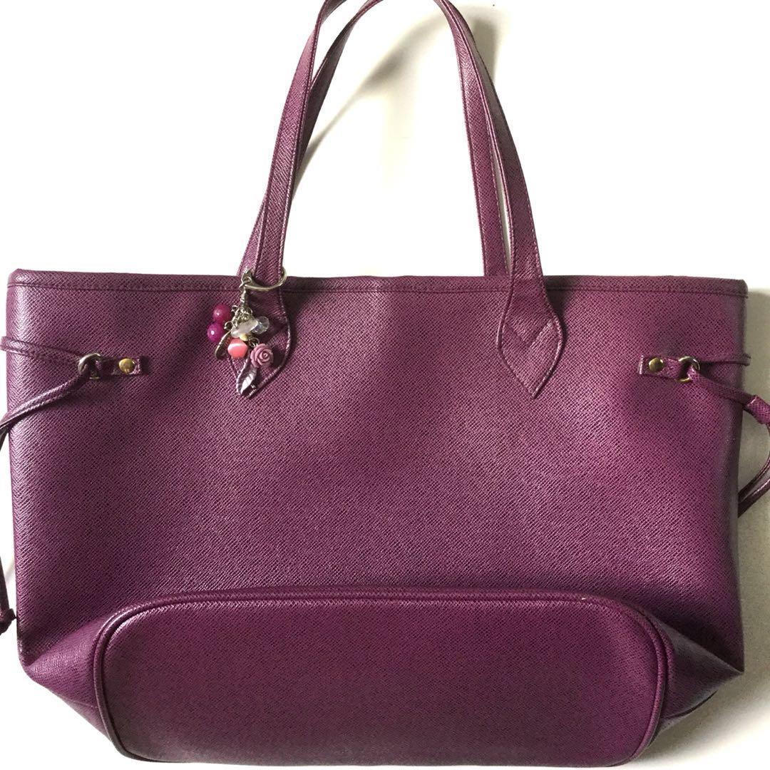 PLOVED: Neverfull Inspired Bag in Plum