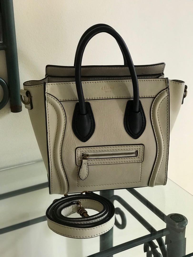 Preloved Celine Nano Bag (Mirror Quality) in Powder Leather