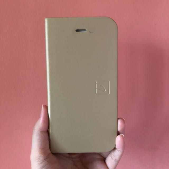 Preloved Tucano Gold Book Case Cover for iPhone 6/6s
