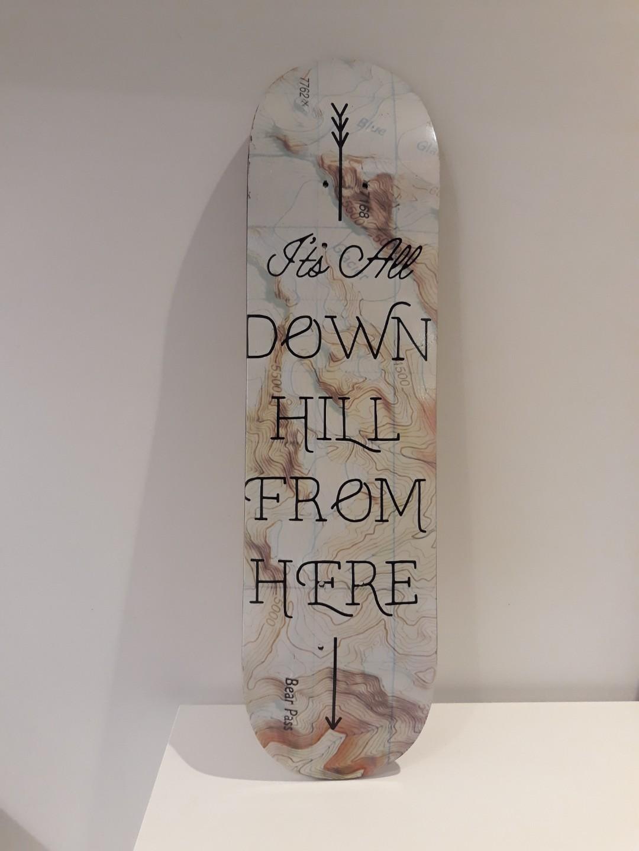 Printed skateboard wall deco