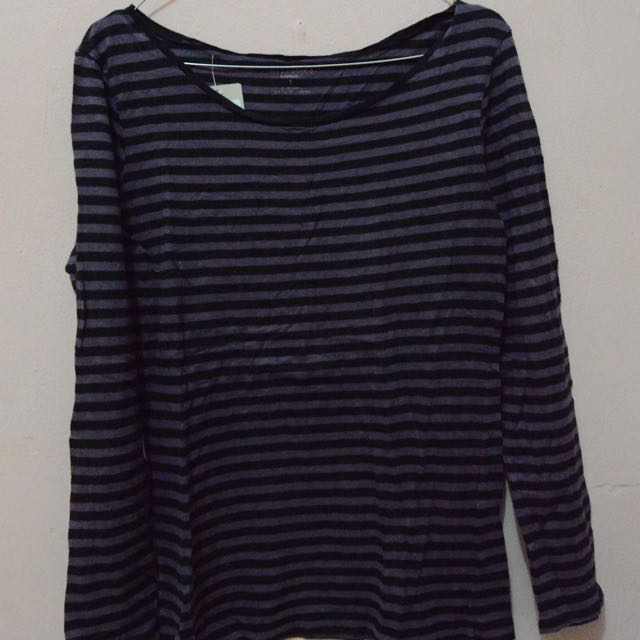 Purple Basic Stripes Shirt